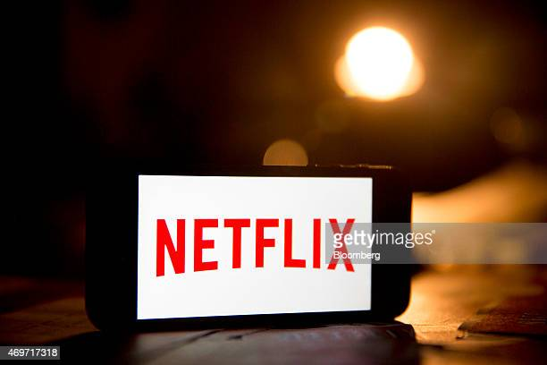 The Netflix Inc logo is displayed on an Apple Inc iPhone 5s for a photograph in Washington DC US on Tuesday April 14 2015 Netflix Inc the largest...