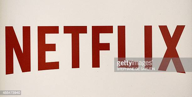 The Netflix logo is pictured on September 15 2014 in Paris US online streaming giant Netflix will launch the second phase of its European expansion...