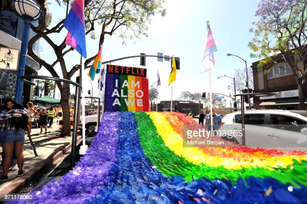 The Netflix original series Sense8 float is seen at the Los Angeles Pride Parade on June 10 2018 in West Hollywood California
