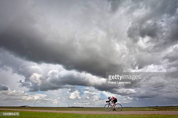 the netherlands, almere, triathlon, cycling - almere stock pictures, royalty-free photos & images