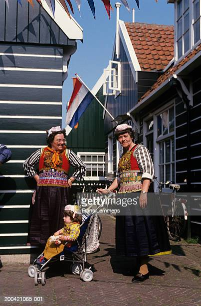 The Netherlands, Holland, Marken, women in traditional costume