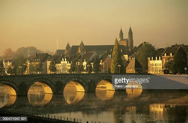 The Netherlands, Limburg,  Maastricht, River Maas, dawn