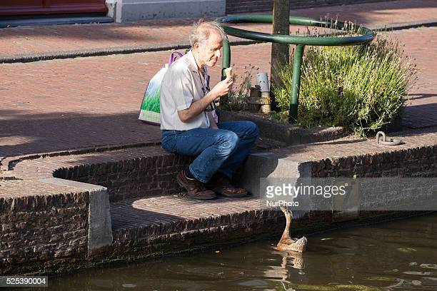 LEIDEN The Netherlands on August 6 2015 Summer is Back Temperatures are increasing again after a short cold spell Temperatures will be reaching 27...