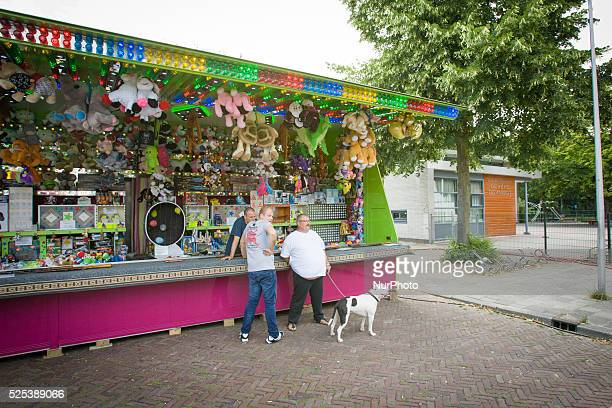 VOORSCHOTEN The Netherlands on July 24 2015 Preparations are taking place for the yearly summer horse market The market traditionally is held on the...