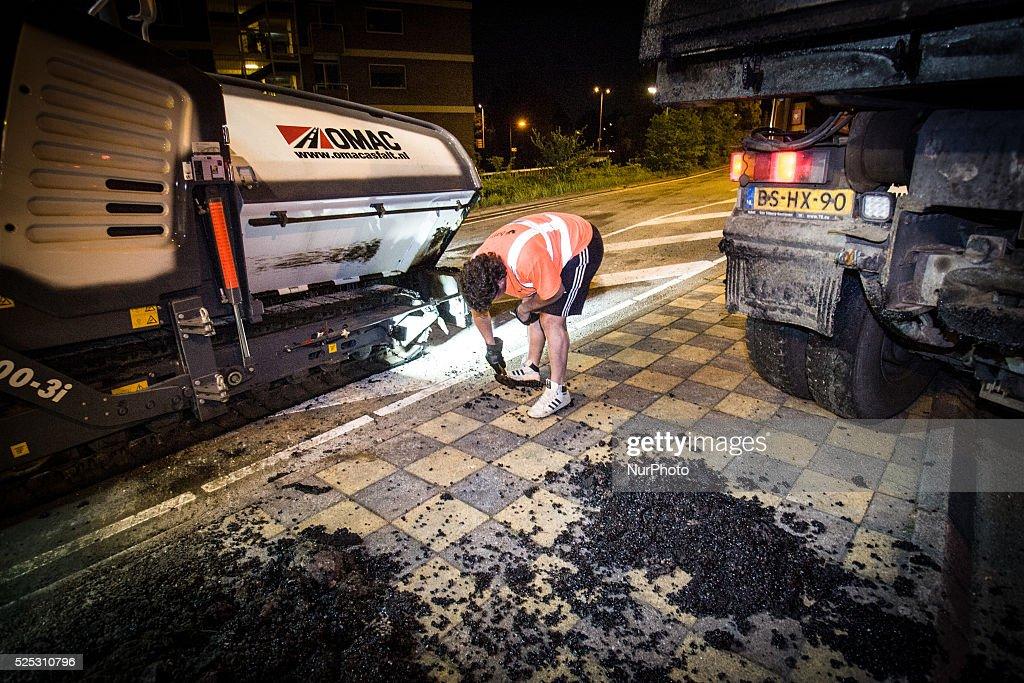 Renovation main artery city of Leiden : News Photo