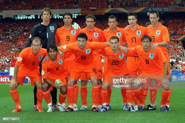 STUTTGART JUNE 16 The Netherlands team group prior to the FIFA World Cup Group C match between the Netherlands and the Ivory Coast at the...