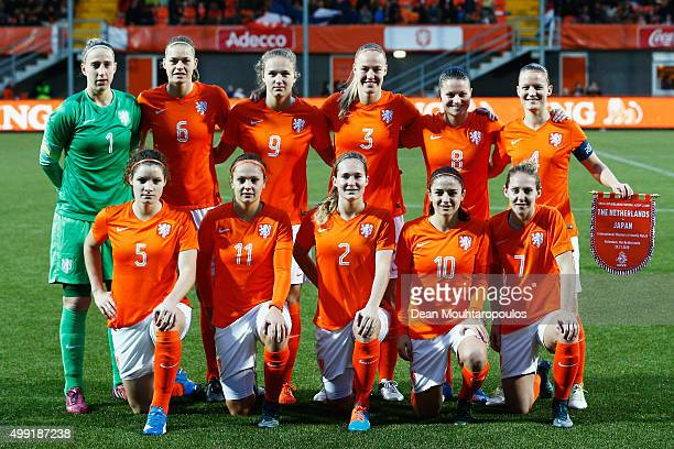 The Netherlands team line up during the International Friendly match between Netherlands and Japan held at Kras Stadion on November 29 2015 in...