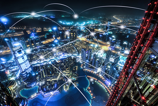 The network of city in Dubai,UAE - gettyimageskorea