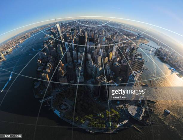 the network of city in new york - customer engagement stock pictures, royalty-free photos & images