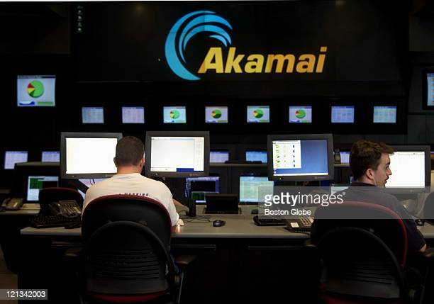The network operations command center at Akamai