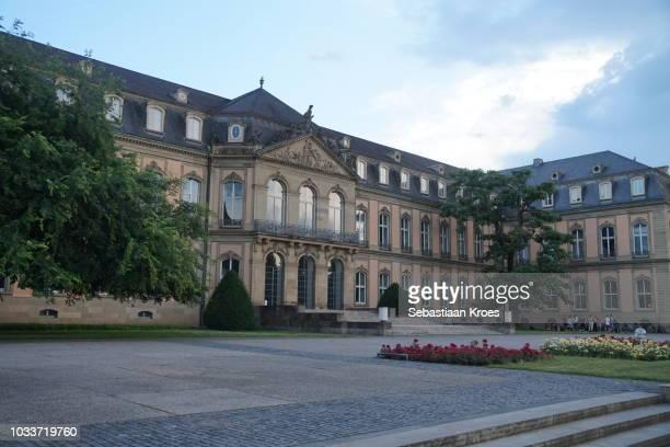 The Neues Schloss at Dusk, Palace, Stuttgart, Germany