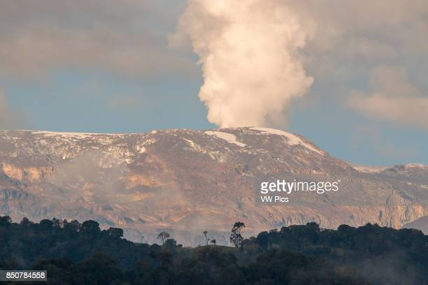 The Nevado del Ruiz or Kumanday in Murill Tolima Colombia