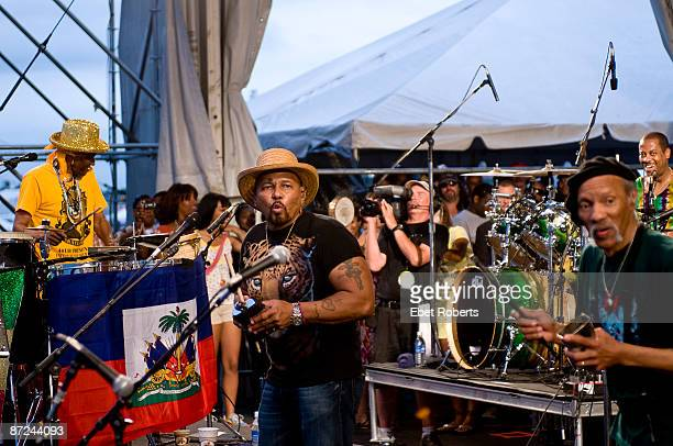 The Neville Brothers performing on stage at the New Orleans Jazz & Heritage Festival on May 3, 2009 in New Orleans, Louisiana. Cyril Neville, Aaron...