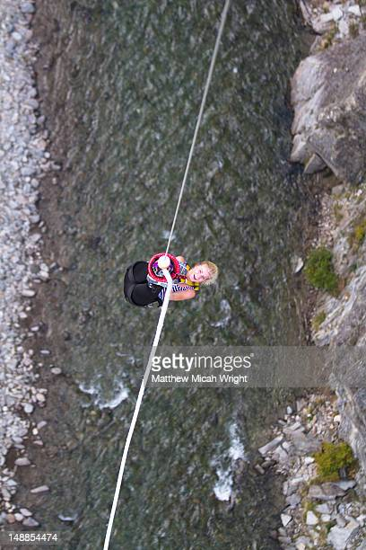 The Nevis bungee is one of the most talked about activities in all of New Zealand. The 134 meter jump from the center of the Nevis Bluff makes most people shake with fear before jumping and then beg for another jump after. Being pulled up after the jump