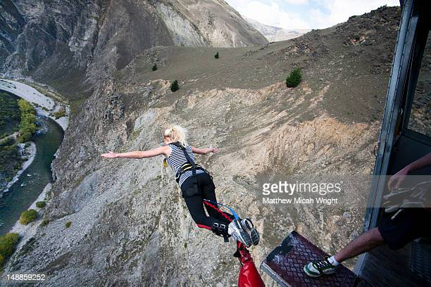The Nevis bungee is one of the most talked about activities in all of New Zealand. The 134 meter jump from the center of the Nevis Bluff makes most people shake with fear before jumping and then beg for another jump after. The jump