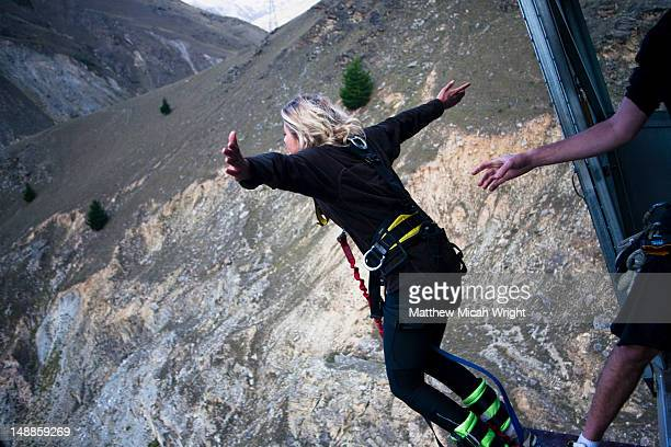 The Nevis bungee is one of the most talked about activities in all of New Zealand. The 134 meter jump from the center of the Nevis Bluff makes most people shake with fear before jumping and then beg for another jump after. The jump!