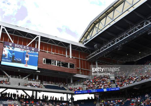 The new $200 million Louis Armstrong Stadium at the Billie Jean King Tennis Center in Flushing Meadow NY boasts seating for 14000 and a retractable...
