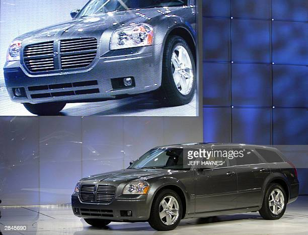 The new 2005 Dodge Magnum is shown at the North American International Auto Show at Cobo Hall 05 January 2004 in Detroit, MI. AFP PHOTO/Jeff HAYNES