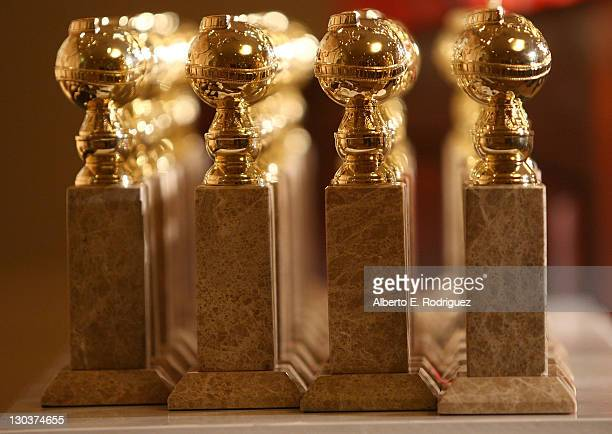 The new 2009 Golden Globe statuettes are on display during an unveiling by the Hollywood Foreign Press Association at the Beverly Hilton Hotel on...