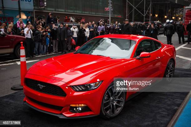 The new 2015 Ford Mustang is revealed on the set of Good Morning America on December 5 2013 in New York City The 2015 model marks the 50th...