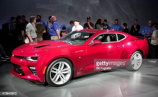 The new 2016 Chevrolet Camaro is shown after being revealed on May 16 2015 in Detroit Michigan General Motors unveiled the sixthgeneration Camaro...