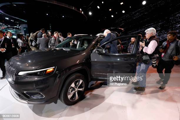 The new 2019 Jeep Cherokee makes its debut at the 2018 North American International Auto Show January 16, 2018 in Detroit, Michigan. More than 5,100...