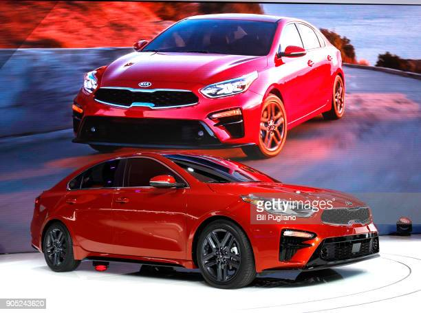 The new 2019 Kia Forte sedan makes its debut at the 2018 North American International Auto Show January 15 2018 in Detroit Michigan More than 5100...