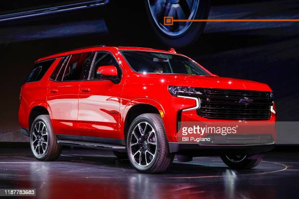The new 2021 Chevrolet Tahoe is revealed by General Motors at Little Caesars Arena on December 10, 2019 in Detroit, Michigan.