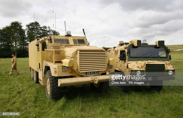 The new 23tonne Cougar/Mastiff and Vector armoured vehicles are demonstrated by the Army on Salisbury Plain Wiltshire The Cougar Mastiff and Vector...