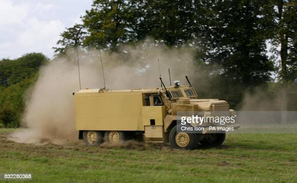 The new 23tonne Cougar/Mastiff vehicle is demonstrated by the Army on Salisbury Plain Wiltshire The Cougar Mastiff and Vector machines were unveiled...