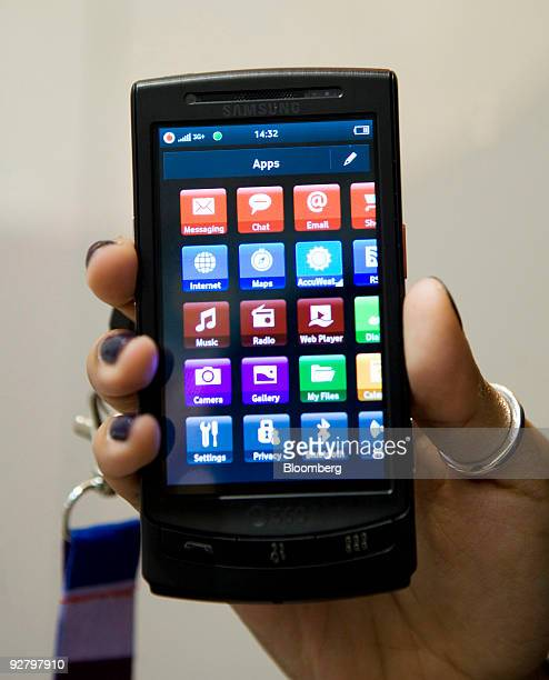 The new 360 degree mobile phone is held while on display at a Vodafone store in London UK on Wednesday Nov 4 2009 UK prosecutors are 'looking into'...