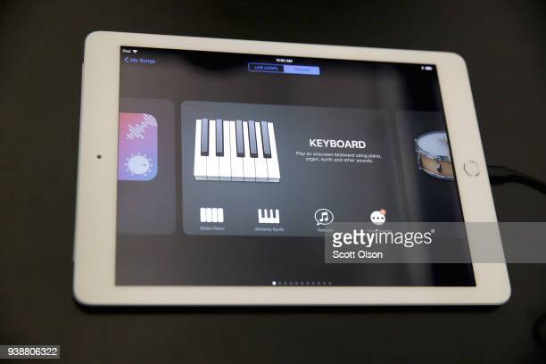 The new 97inch Apple iPad is introduced during an event at Lane Tech College Prep High School on March 27 2018 in Chicago Illinois The device will...