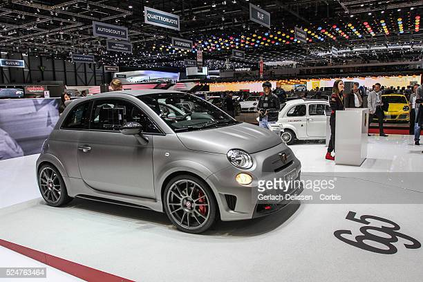The new Abarth 695 Biposto revealed and on show at the 84th Geneva International Motor Show, March 5th, 2014