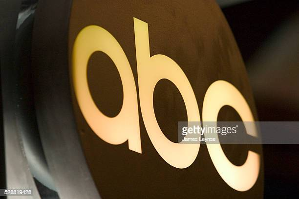 The new ABC logo seen at a rehearsal for ABC's announcement of its lineup for the 2004/2005 season