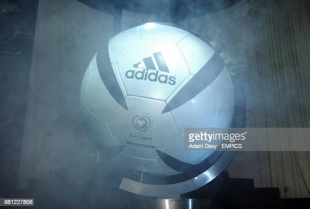 The new Adidas football for Euro 2004 is unveiled in Lisbon