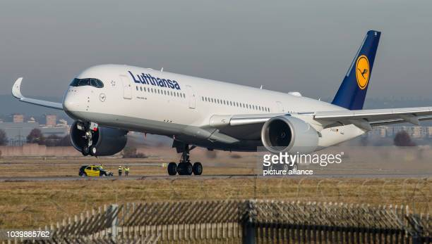 The new Airbus A350900 operated by the German aviation concern Lufthansa takes off from the airport in Stuttgart Germany 22 December 2016 Photo...