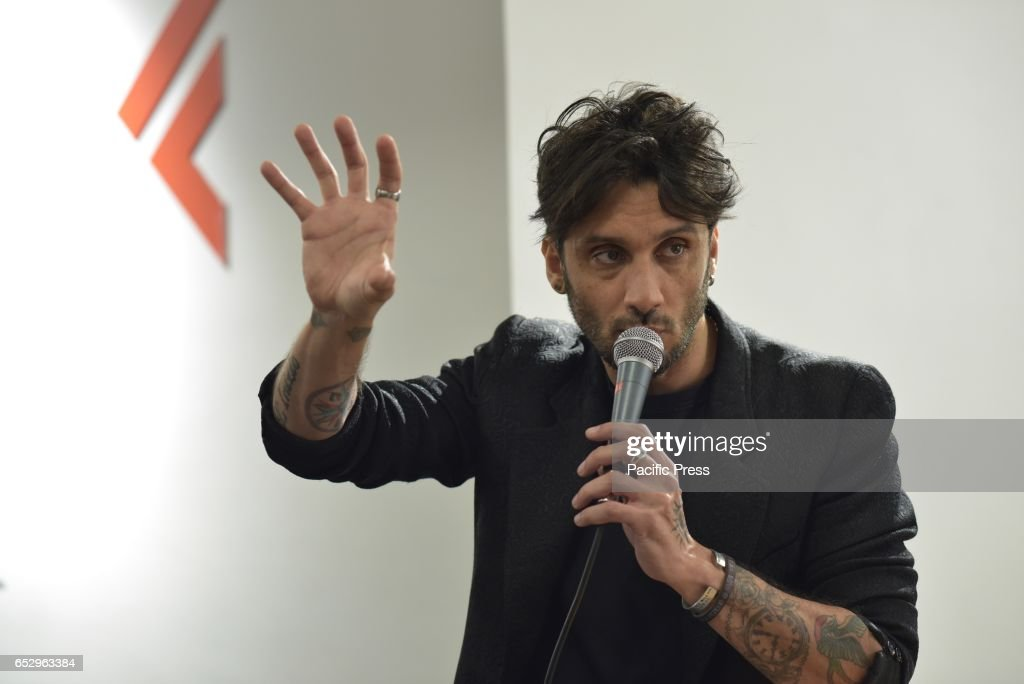 LAFELTRINELLI, NAPLES, NAPOLI, ITALY - : The new album by Fabrizio Moro 'Pace' is out March 10 in Italy.