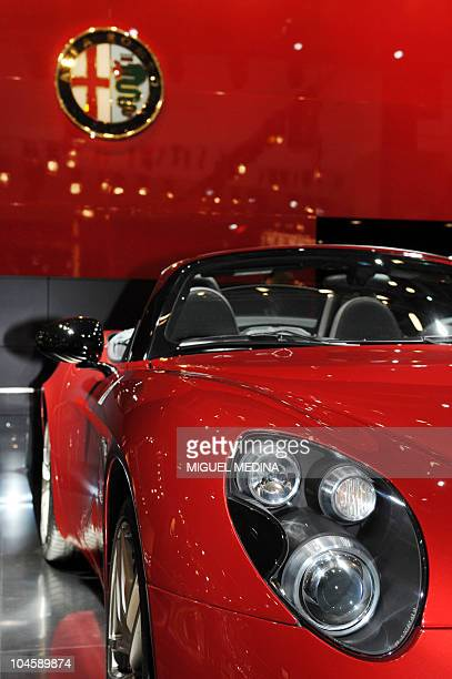 The new Alfa Romeo 8C Spider is presented at the Paris Auto Show on October 1st 2010 The show will open to the public on October 2nd More than 300...