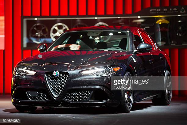 The new Alfa Romeo Giulia on display during the North American International Auto Show in Detroit Michigan Toronto Star/Todd Korol Toronto Star/Todd...