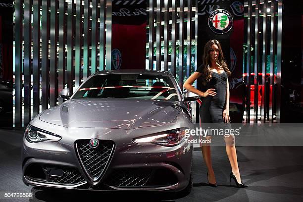 The new Alfa Romeo Giulia on display during the North American International Auto Show in Detroit Michigan Toronto Star/Todd Korol