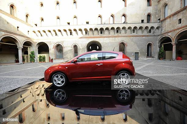 The new Alfa Romeo Mito car is seen inside the 'Sforzesco Castle' during a press conference to present the new model in Milan on June 19 2008 AFP...