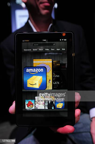 Amazon Kindle Fire Pictures and Photos - Getty Images