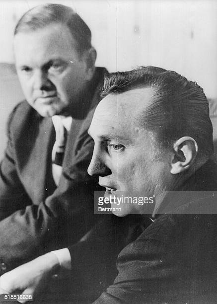 The new American Football League Commissioner Al Davis answers questions about his plans for the AFL at a press conference April 8 1966 AFL President...