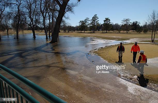 The new and unopened City Park Golf Club building was flooded Monday moring when a water main on the golf course broke The break sent water gushing...