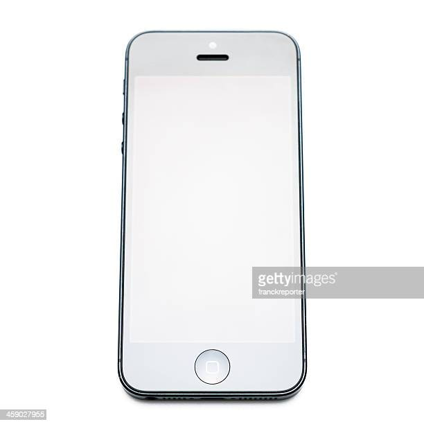 the new apple iphone black 5 on white background - off stock pictures, royalty-free photos & images