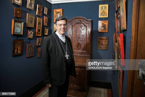 The new Archbishop of Paris Michel Aupetit is photographed for Paris Match in a chapel on december 21 2017 in Paris France