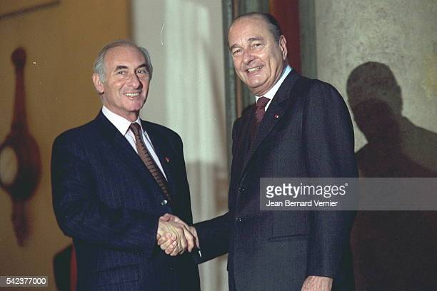 The new Argentinian President meets President Chirac at the Elysée Palace