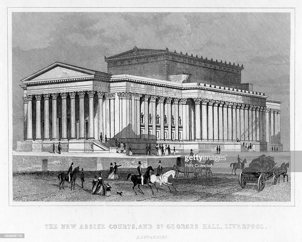 The New Assize Courts, and St George's Hall, Liverpool, Lancashire, 19th century.Artist: Thomas Tallis : News Photo