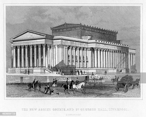 The New Assize Courts, and St George's Hall, Liverpool, Lancashire, 19th century.