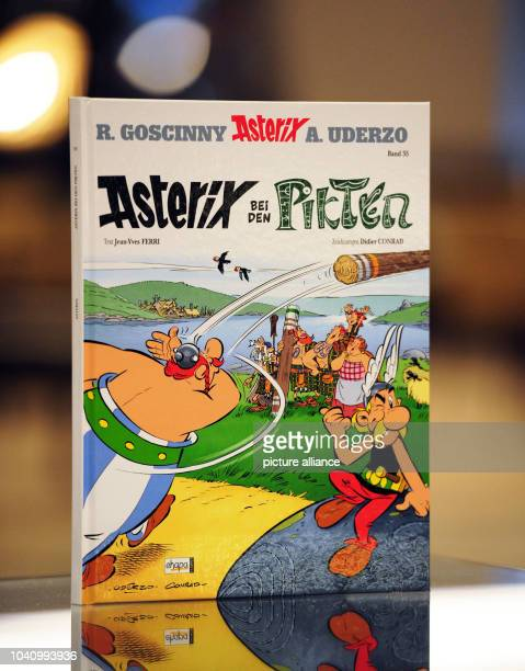 The new Asterix comic 'Asterix and the Picts' in Frankfurt MainGermany 11 October 2013 The new Asterix volume will go on sale on 24 October Photo...